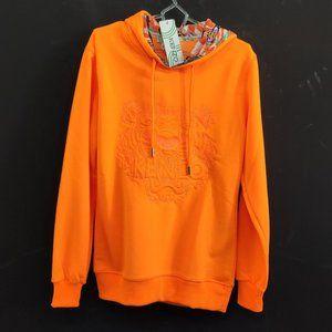 Kenzo Ornage Hoodie Sweatshirt For Women